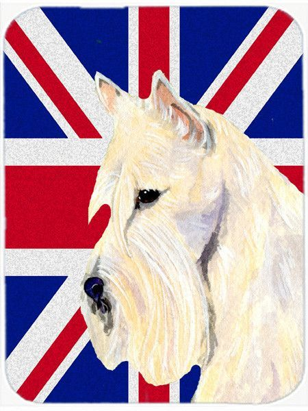 Scottish Terrier Wheaten with English Union Jack British Flag Mouse Pad, Hot Pad or Trivet SS4972MP