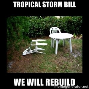 Tropical Storm Bill We Will Rebuild Lawn Chair Blown Over We Will Rebuild Lawn Chairs California Winter
