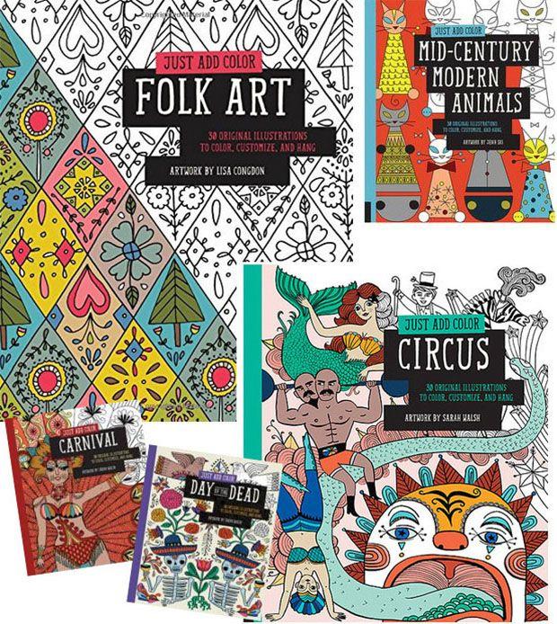Just Add Color, coleção de livros para adulto colorir.