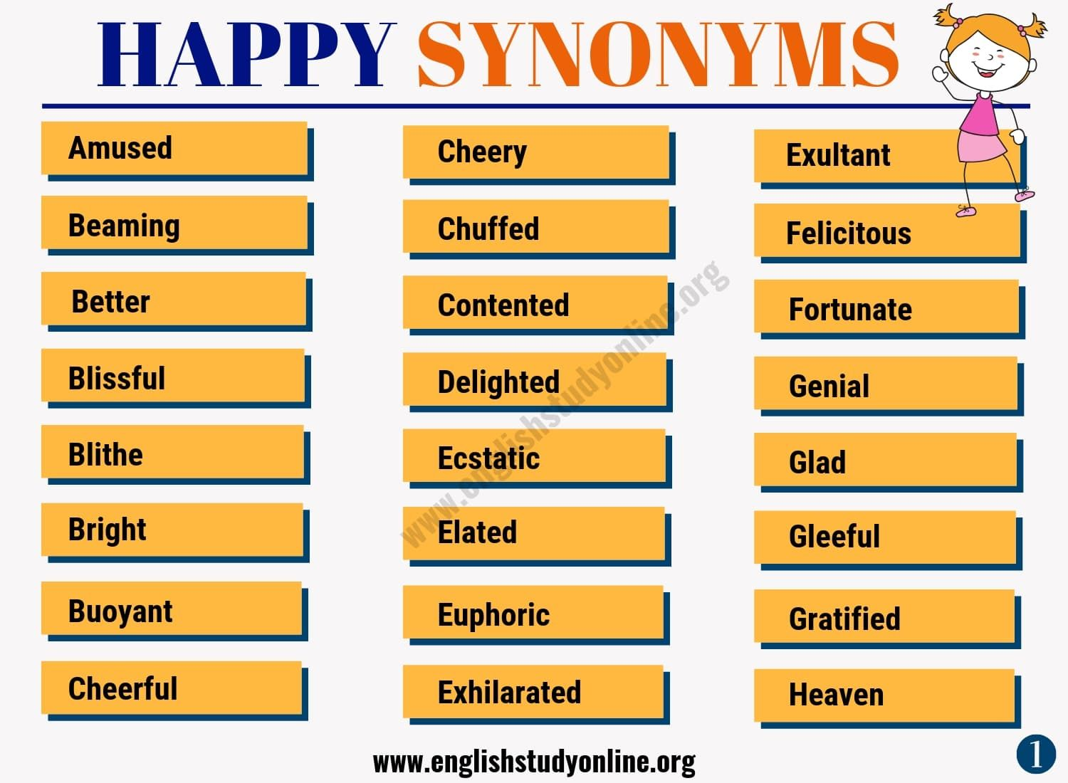 Happy Synonym List Of 50 Powerful Synonyms For Happy Happy