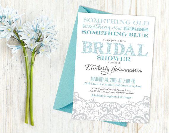 printable lace bridal shower invitation with the theme something old something new something borrowed something blue wwwtheinkedleafetsycom