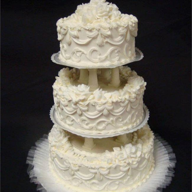 Custom Wedding Cake From Apple Annieu0027s Bake Shop In Wilmington, NC