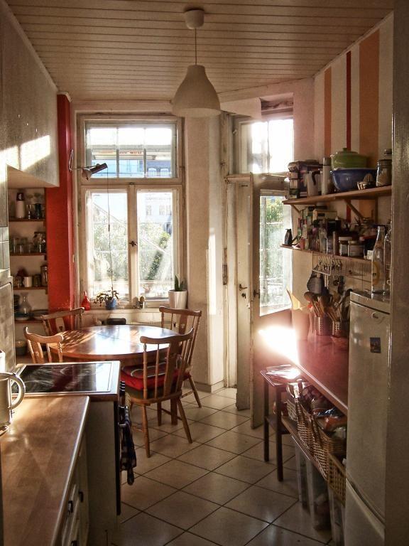 Küche in Dresden mit herbstlicher Lichtstimmung #Dresden
