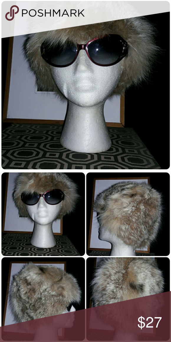 """Vintage DALLAIRE Fur Hat Vintage DALLAIRE Fur Hat in good condition. The lining has a appt see the last pic. Approx diameter 10"""". Any questions pls ask. Dallaire Accessories Hats"""