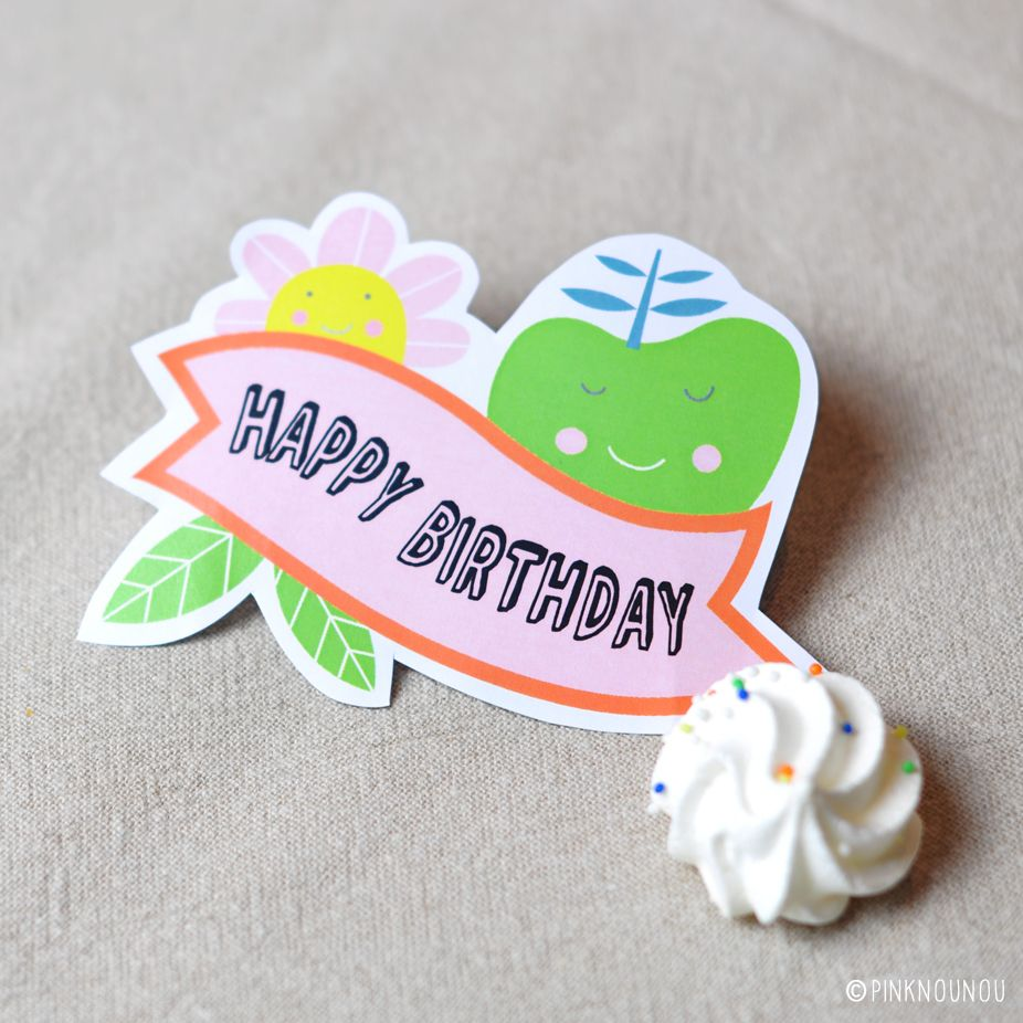 Free Printable Birthday Tag | Contributed by Pink Nounou | Crafting ...