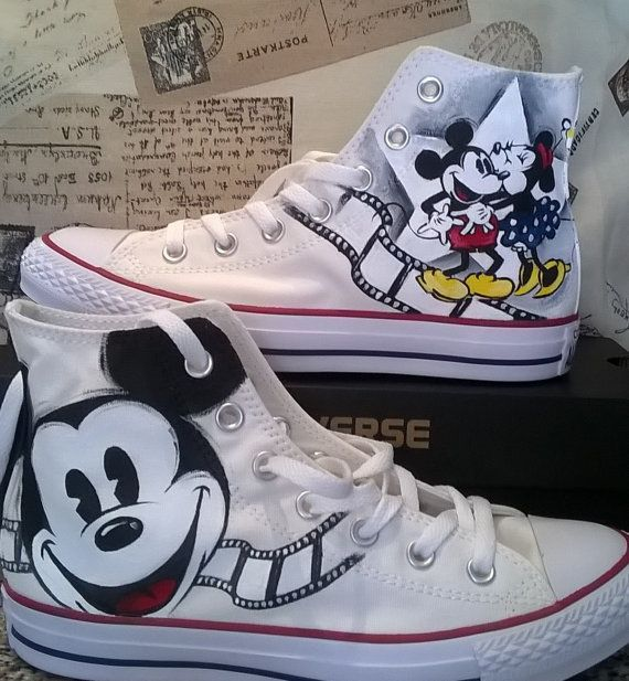 a71675b79163 Disney inspired hand painted shoes
