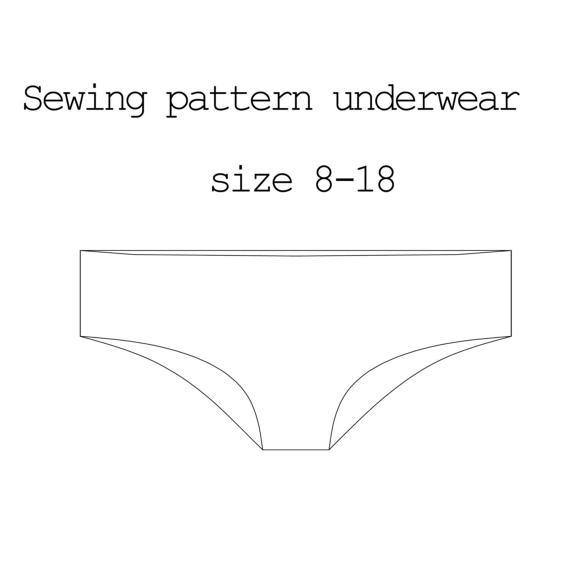 Sewing Pattern Underwear PDF Pattern Lingerie Pattern Pants ...
