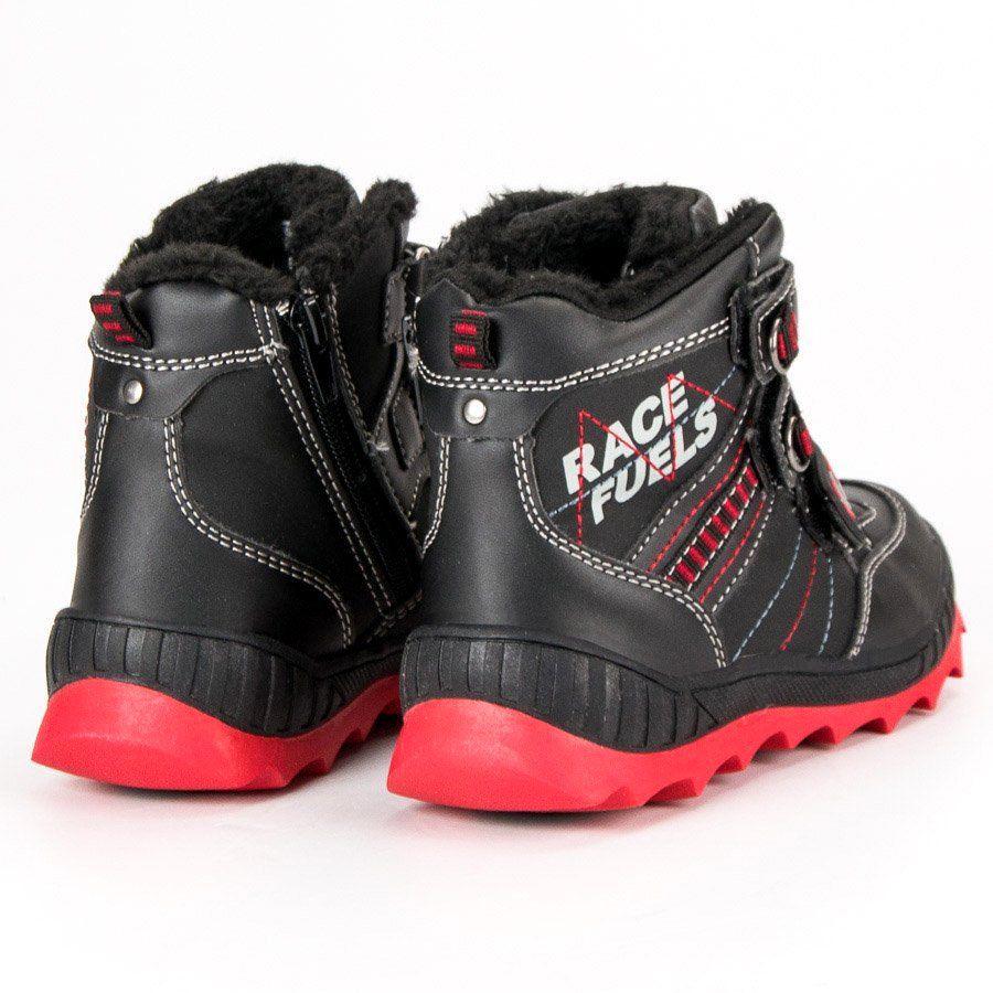 Kozaki Dla Dzieci Americanclub American Club Czarne Ocieplane Buty American Boots Winter Boot Shoes