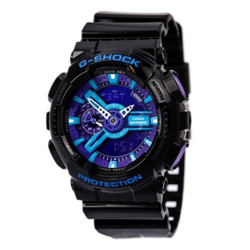 Casio-GA110HC-1A-Mens-G-Shock-X-Large-Anti-Magnetic-World-Timer-Blue-Dial-Watch