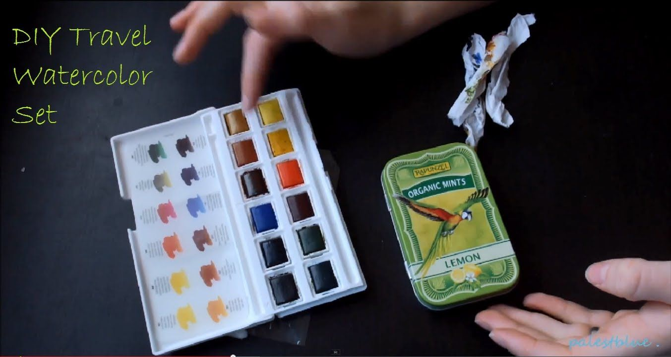 DIY Water Color Travel Set | Projects to Try | Pinterest | Watercolor