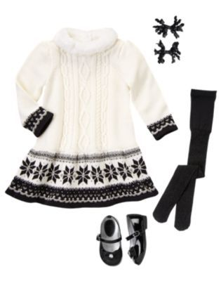 Black and white Christmas outfit for little girls [more at ...