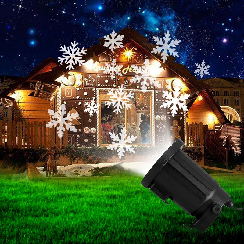 New year moving snowflake laser projector waterproof led stage light new year moving snowflake laser projector waterproof led stage light christmas outdoor landscape lighting garden dj aloadofball Images
