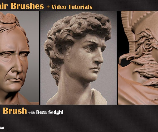Artstation 5 3d Hair Brushes Video Tutorial Tutorials Videos Tutorial Hair Brush Tutorial