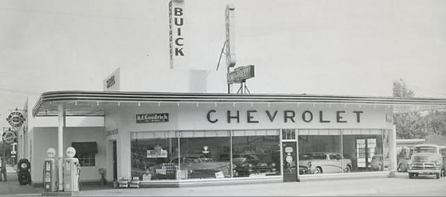 Mid 50 S Gm Dealer Chevrolet Dealership Dealership Dealership Showroom