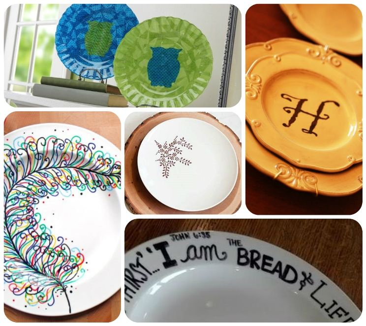 DIY Decorated Plates - Planet Green Recycle  sc 1 st  Pinterest & DIY Decorated Plates - Planet Green Recycle | Crafts | Pinterest ...