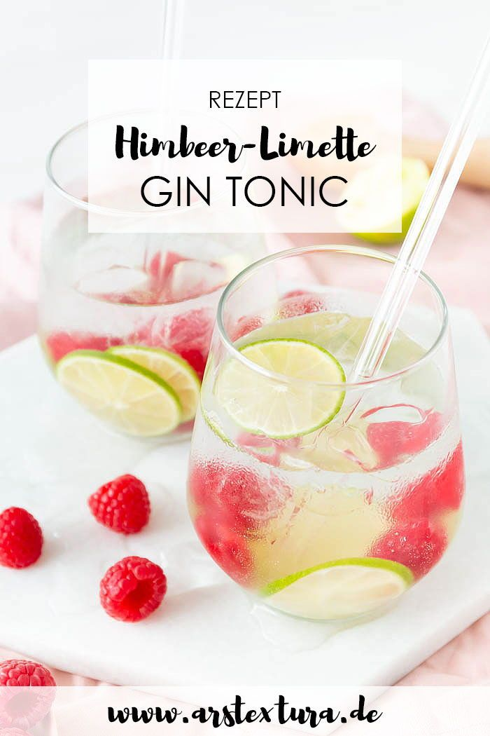 Photo of Sommerlicher Himbeer-Limette Gin Tonic | ars textura – DIY-Blog