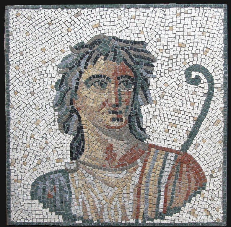 Mosaico romano de atenea 60x60 cm fabricaci n de for Mosaico romano