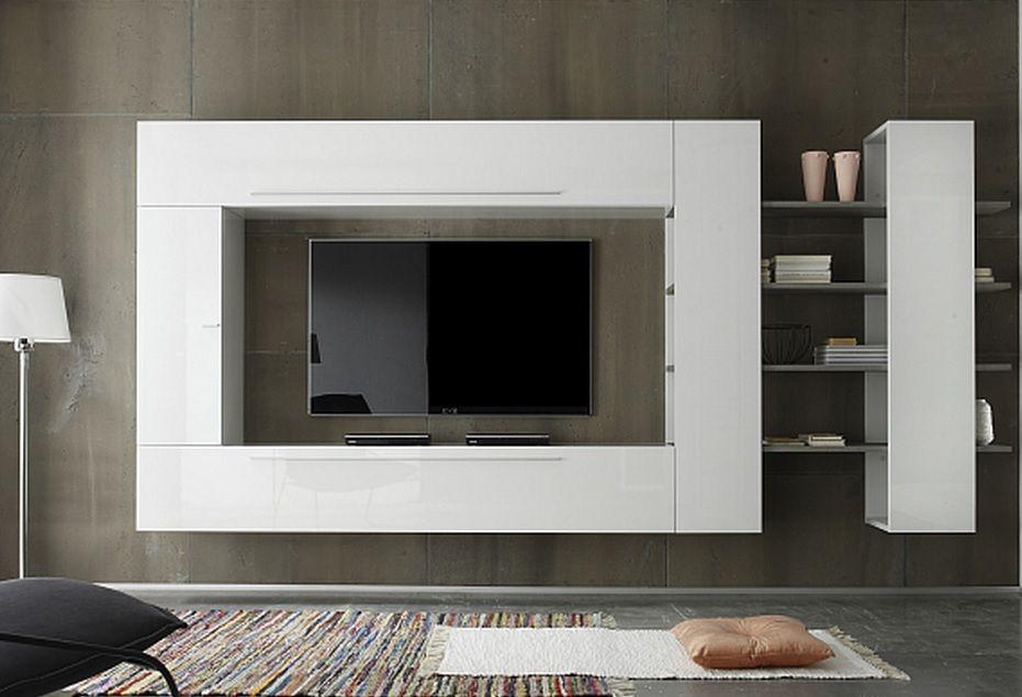 Line 3 is een modern compleet tv wandmeubel van italiaans design
