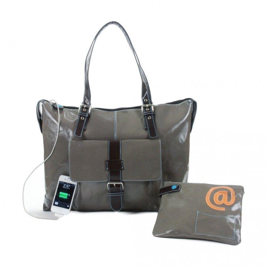 Urban Junket Women's Powered Laptop Bag - JB in sterling