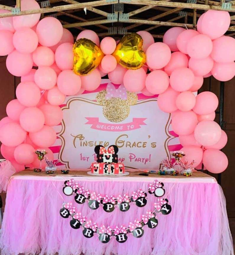 Minnie Mouse Backdrop Minnie Mouse Birthday Party Decorations