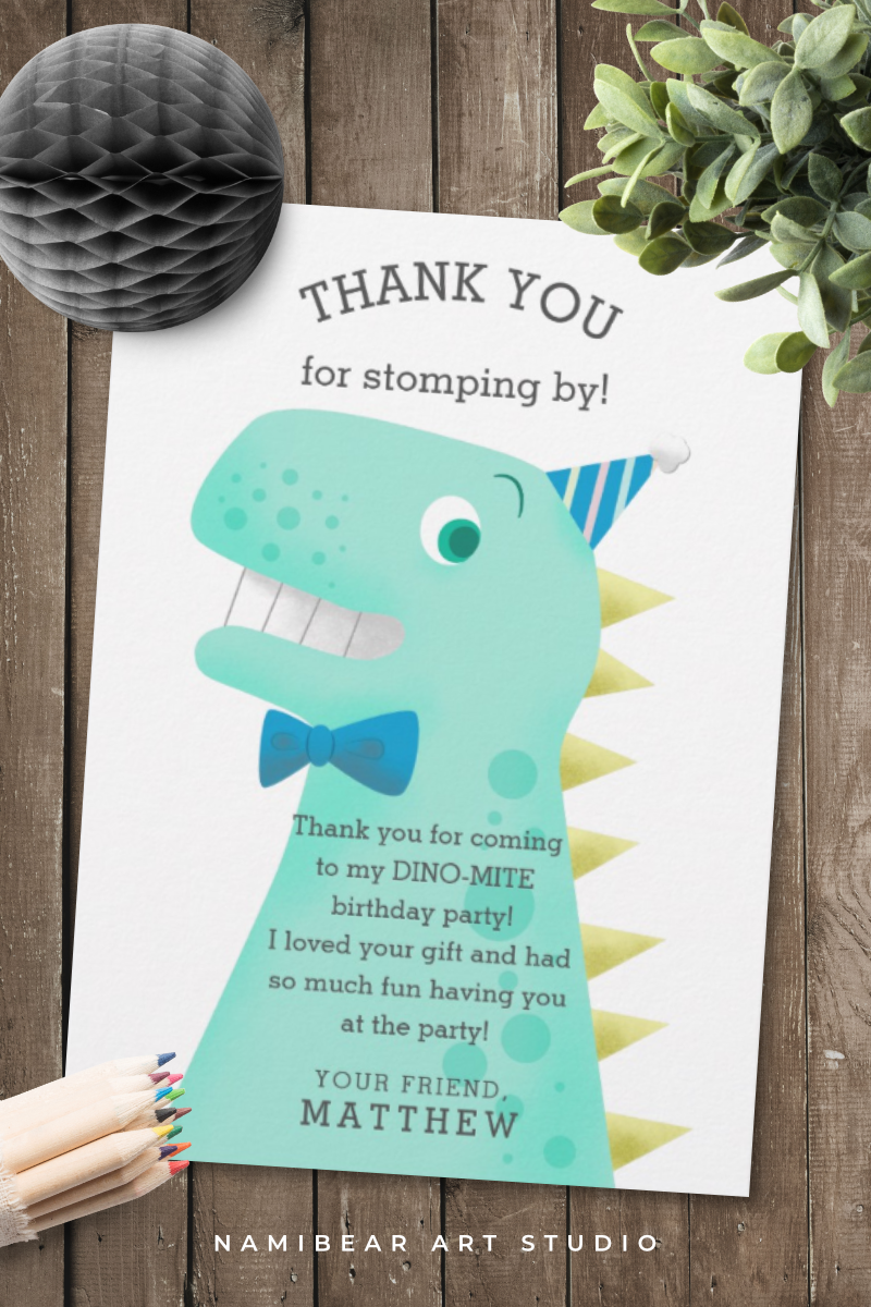 Dinosaur Birthday Party Boy S Thank You Card Zazzle Com Dinosaur Birthday Party Boy Birthday Parties Dinosaur Theme Party