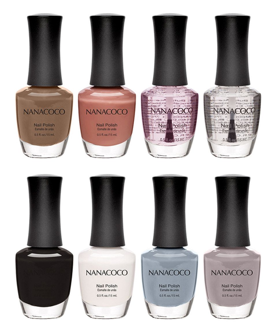 Love This Nanacoco Neutrals Eight Piece Nail Polish Set By
