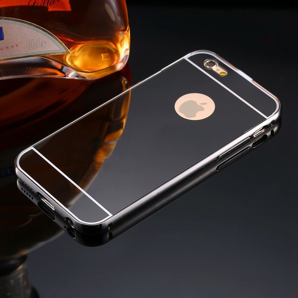 mirror iphone 7 plus case. mirror case for apple iphone 5 6 /for plus luxury plating metal aluminum frame back mobile cover iphone 7 a