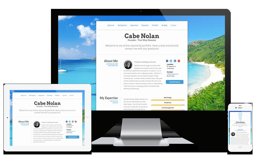 Resume Website Builder Example Personal website