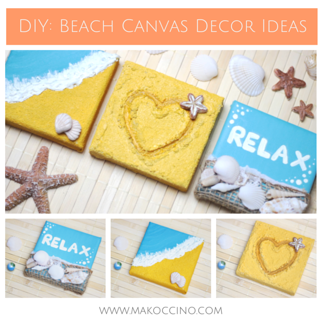 DIY: 3D Beach Canvas Wall Decor Ideas | DIY back to school ...