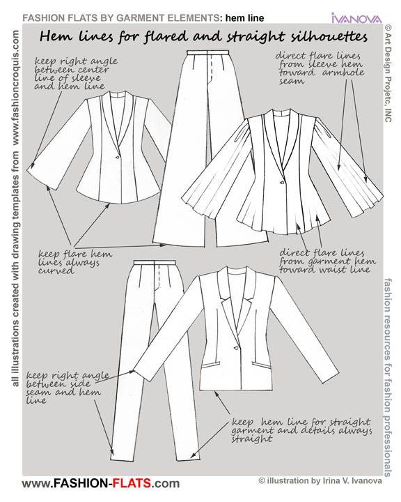 flared staight hem line fashion flats | 옷 | Pinterest | Patrones ...