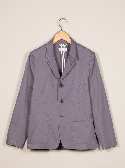 Universal Works Grey Suit Jacket in Twill - 119#