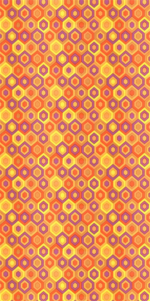 Schrille 70er Jahre Pop Art Tapete Vintage Wallpaper