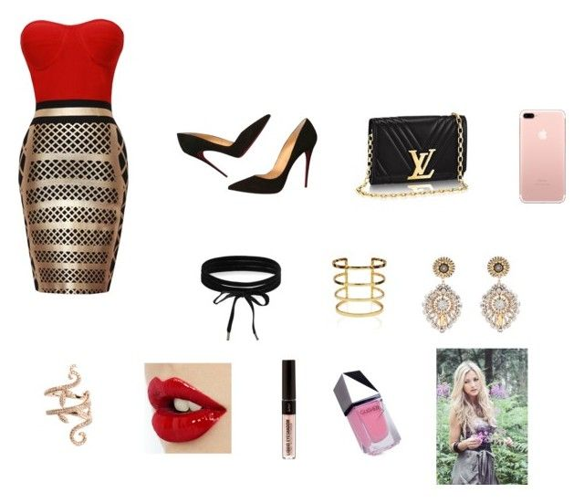 """""""Untitled #416"""" by azharkrymova-1 on Polyvore featuring Christian Louboutin, Boohoo, Miguel Ases, Elise Dray and GUiSHEM"""