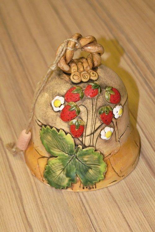 Zvonek s jahodama / Zboží prodejce Keramika Javorník | Fler.cz