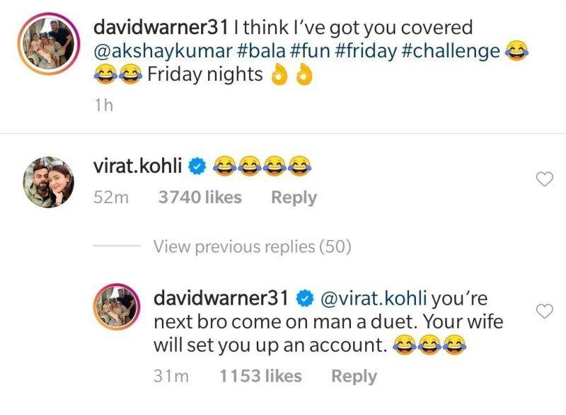 David Warner Invites Virat Kohli To A Duet On Tiktok Your Wife Will Set You Up An Account David Warner Duet Warner