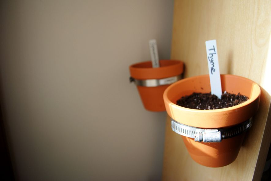 How to: Indoor Herb Garden. This DYI gardening project was inexpensive and easy. See more: http://balancingharper.com/2015/02/19/make-a-super-easy-and-inexpensive-indoor-herb-garden/