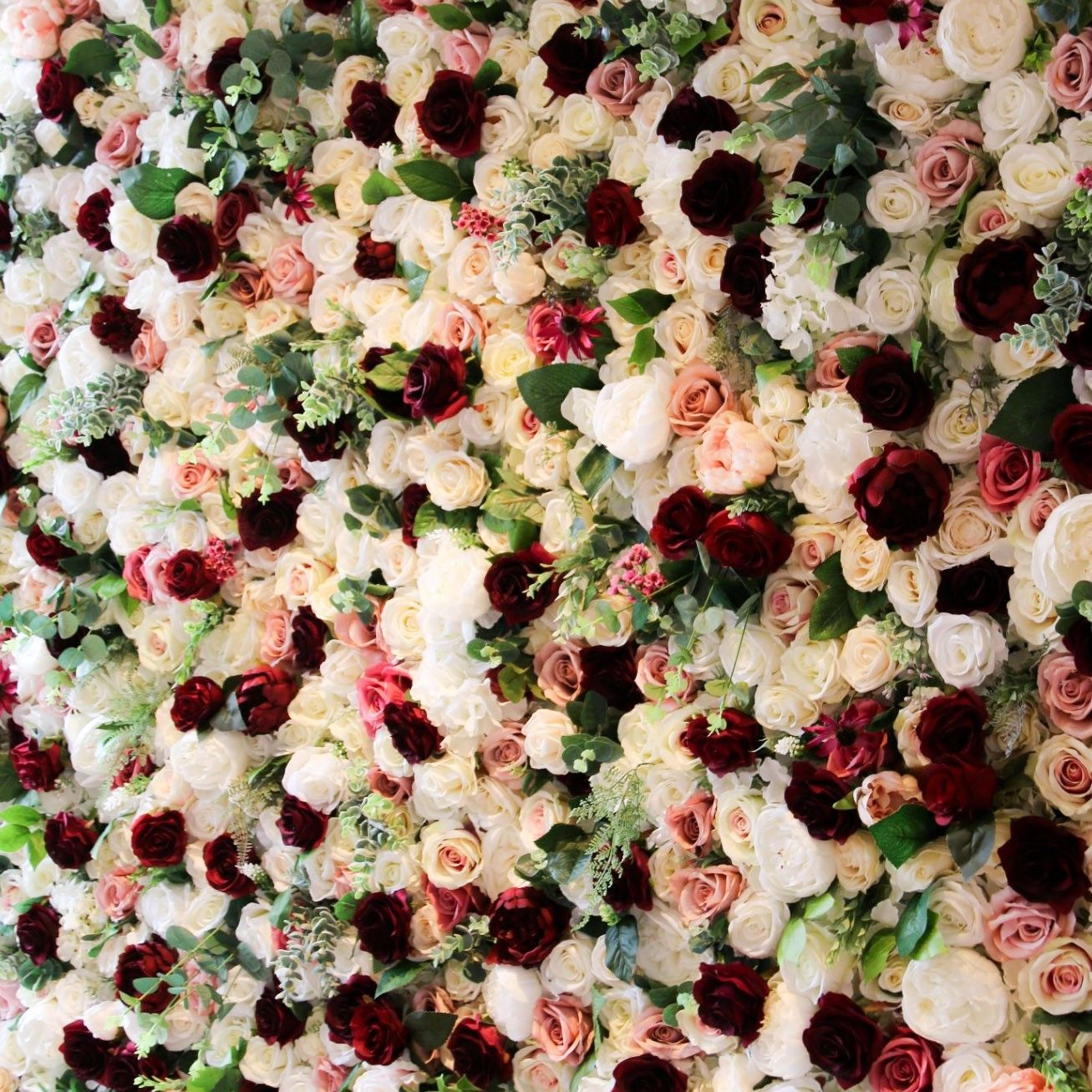 Wedding Flowers Cambridge: Flower Walls Of Cambridge Flowerwall In Rich, Burgundy