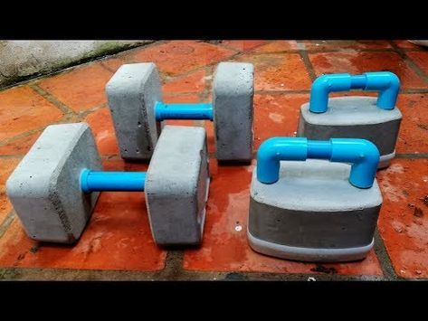 how to make dumbbells cement gym at home try your own