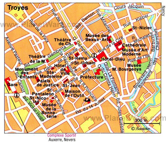 Карта Труа