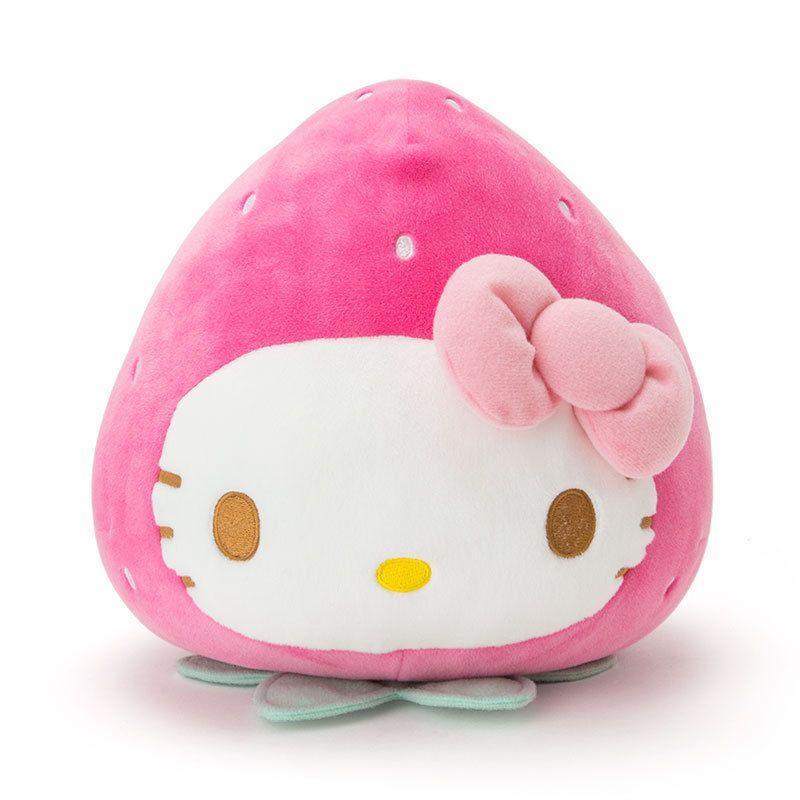 Hello Kitty Strawberries Cushion Ichigo Sanrio Kawaii Japan F S