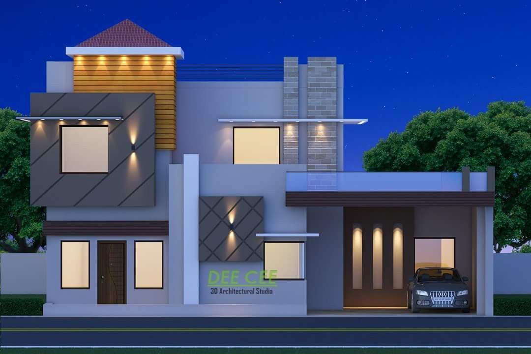Pin By Vikram Singh On Elevation Modern House Facades Small House Elevation Design Small House Elevation