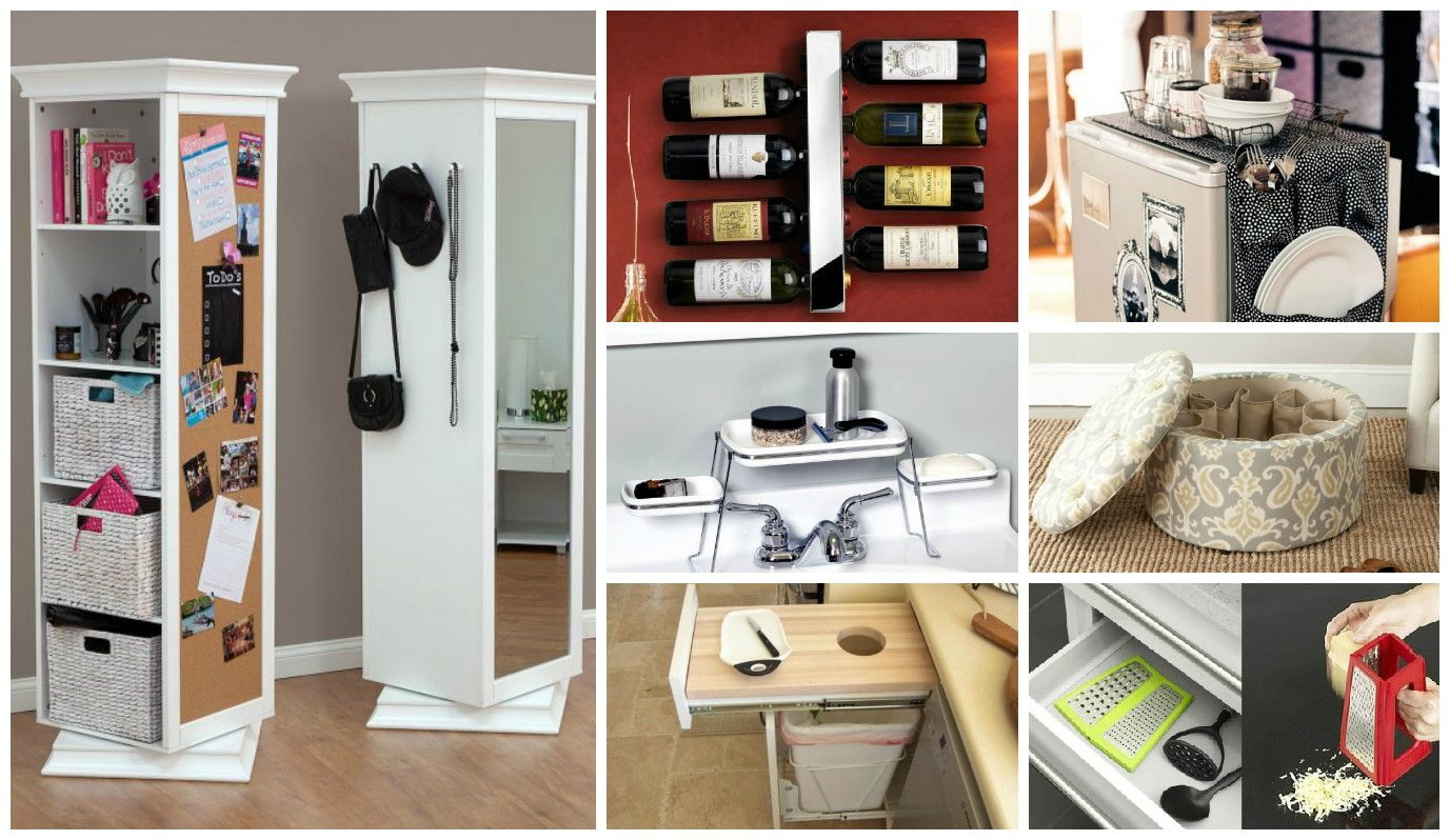 When you lack horizontal space, go vertical! This is perfect for small apartments. It's modern and practical. A good example for space-saving products!