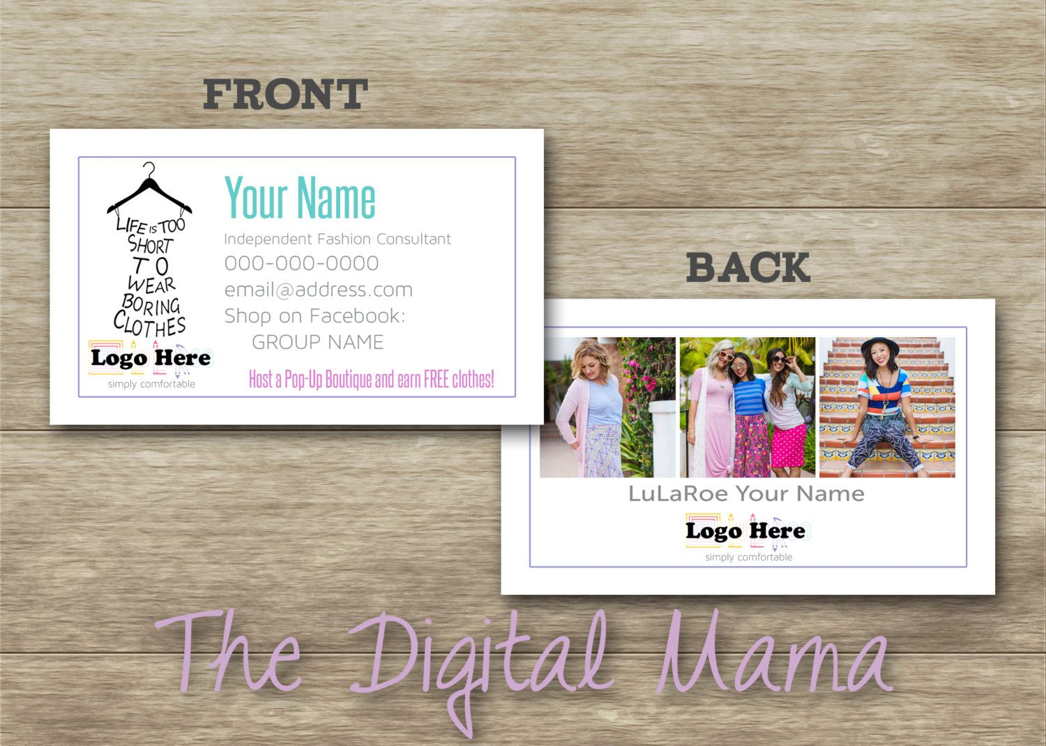 286 best thedigitalmama images on pinterest filing anniversary lularoe consultant business cards design customized lularoe front back business card direct sales magicingreecefo Images