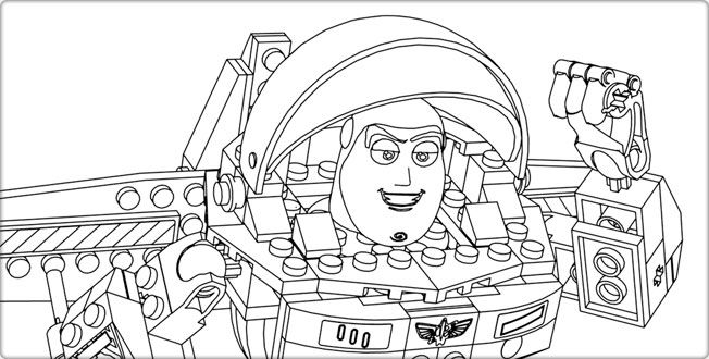 BUZZ! Toy Story and Lego coloring pages - the kids will flip! LEGO ...