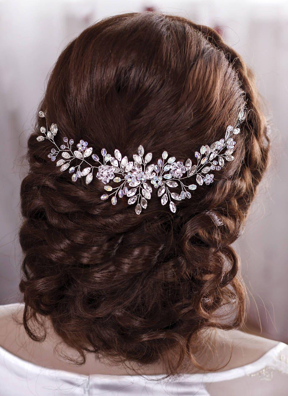 Wedding hair accessories bridal hair piece wedding headband crystal