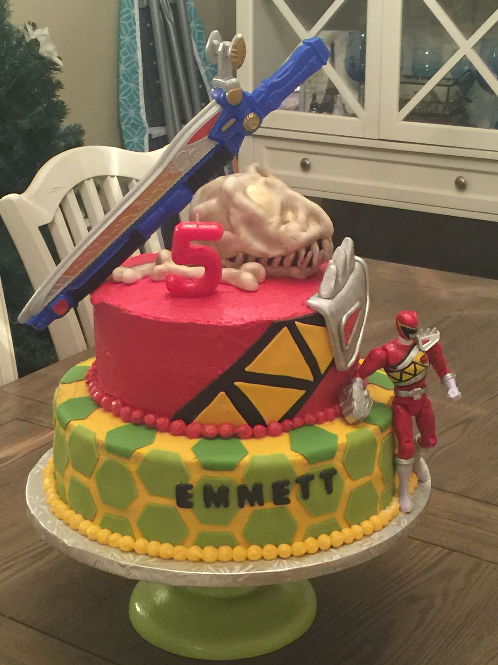 Power Rangers Bedroom Decor Power Rangers Dino Charge Birthday Cake Crafts Pinterest