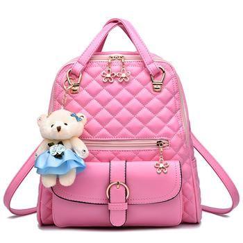 d417031bf20 Brand women leather backpacks school bag female backpacks women high ...