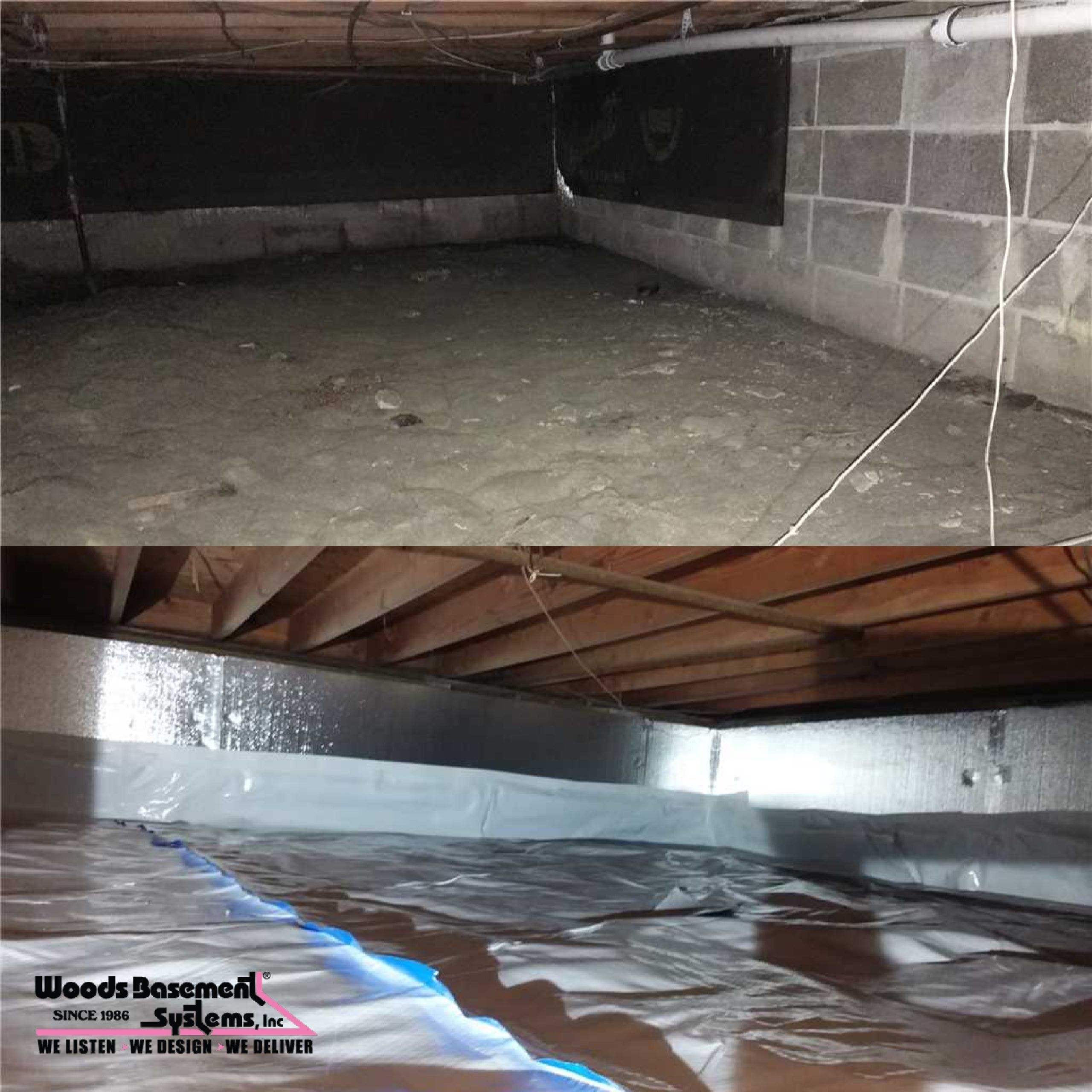 pin by woods basement systems inc on crawl space repair rh pinterest com