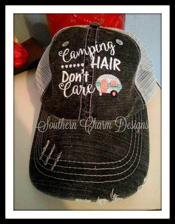 b85aed4d3f4 Black and Grey Distressed Camping Hair by SouthernCharmDesignz
