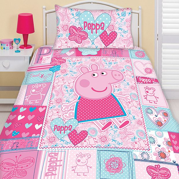 Peppa Pig Summer Panel Quilt Cover Set With Images Bed Quilt